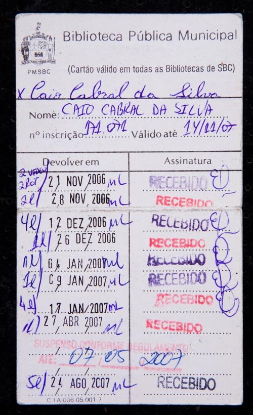 477 - Caio Cabral - Cartão Biblioteca